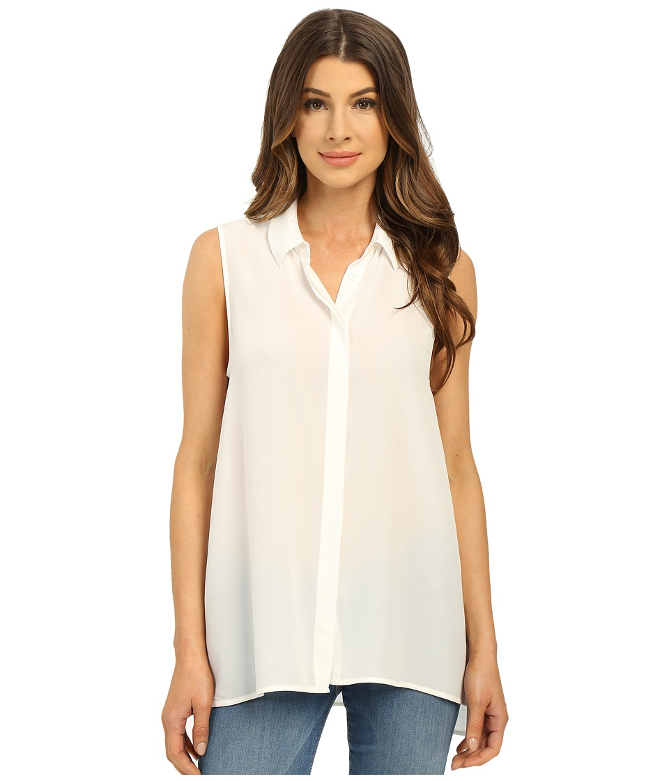 EQUIPMENT - Milla Top (Bright White) Women's Sleeveless
