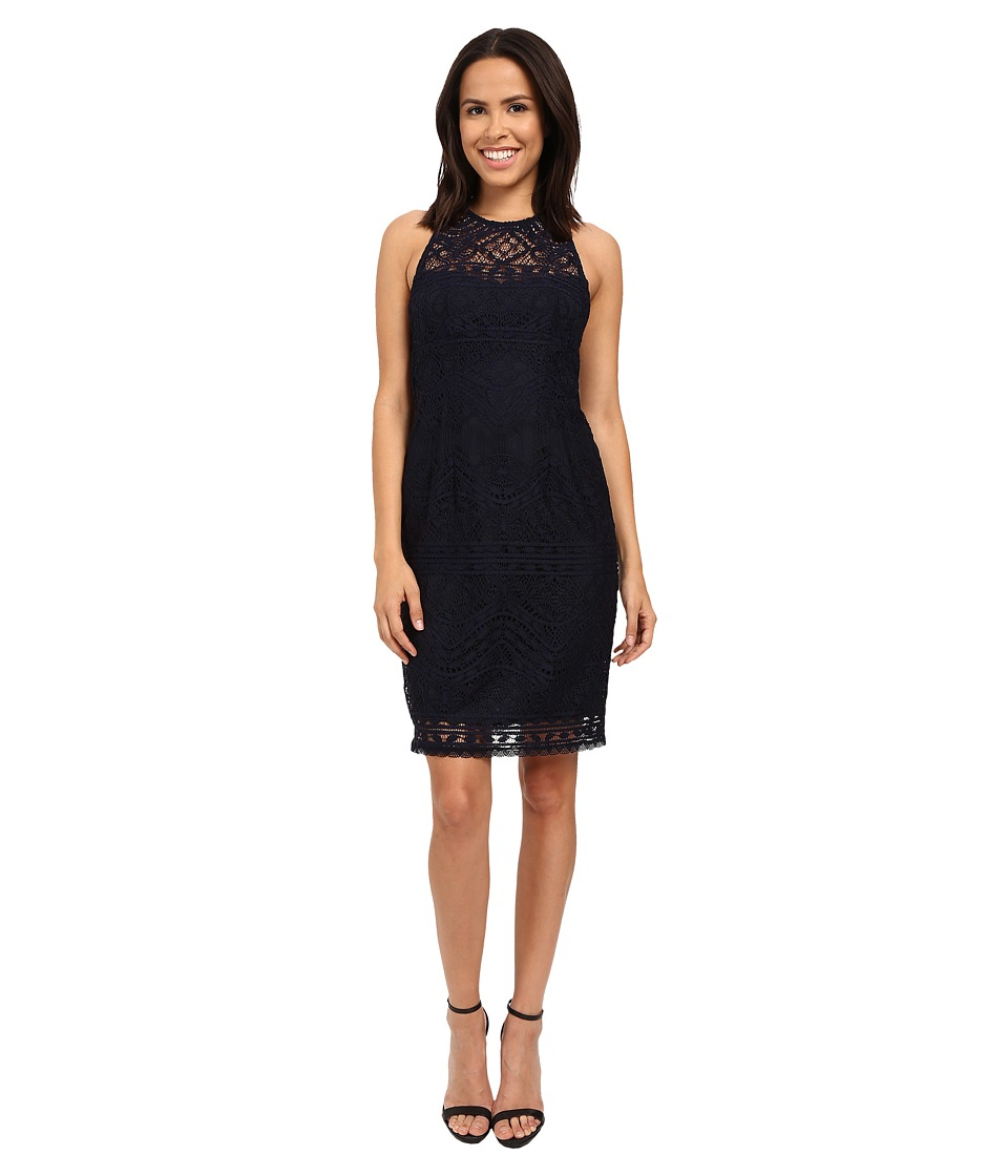 Nanette Lepore - Antique Lace Shift (Navy) Women's Dress