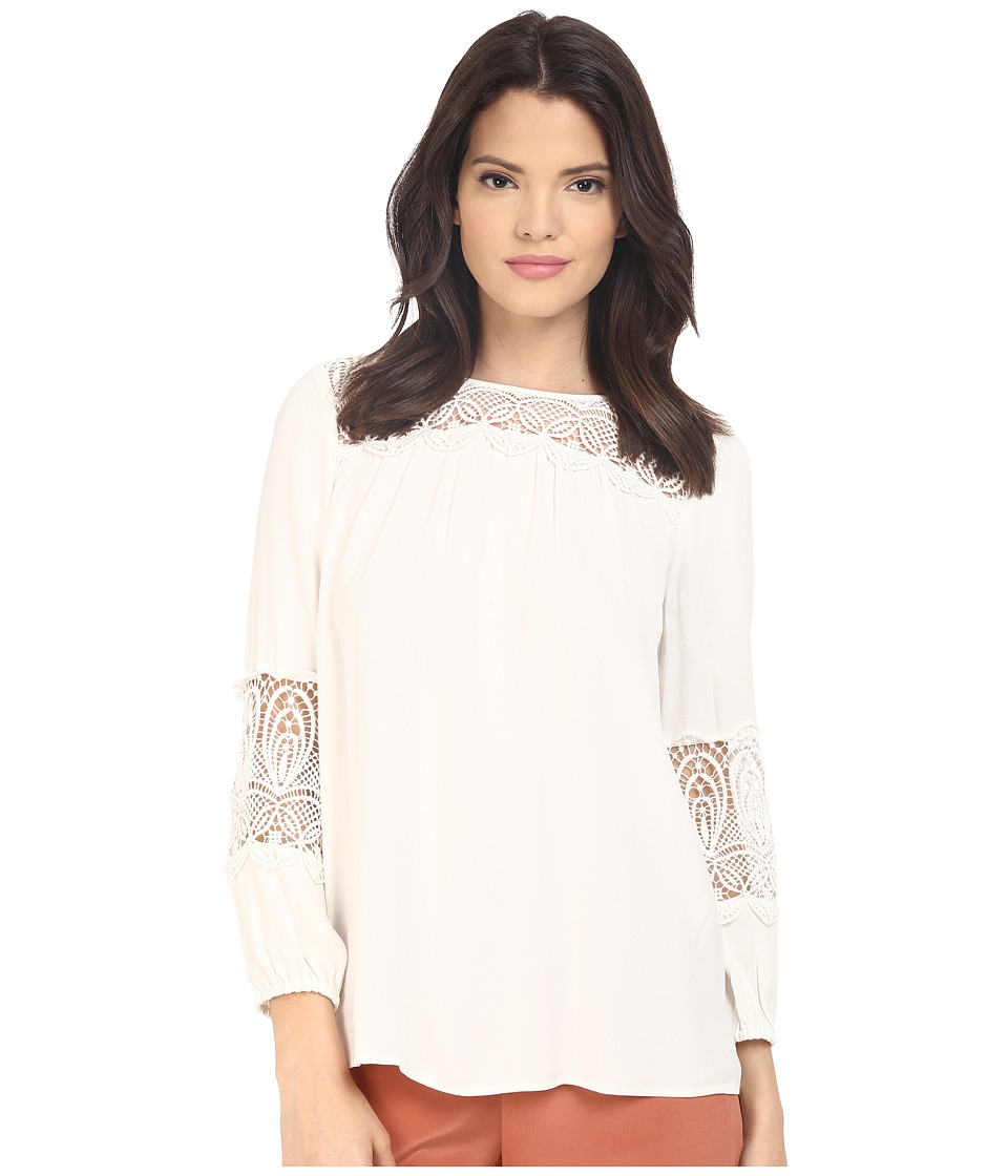 Joie - Coastal Lace Blouse (Porcelain) Women's Blouse