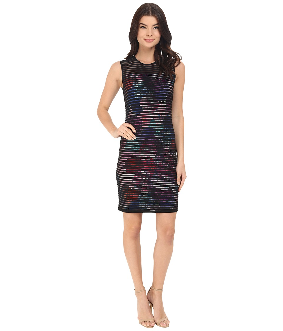 CATHERINE Catherine Malandrino - Romo Dress (Black/Floral) Women's Dress