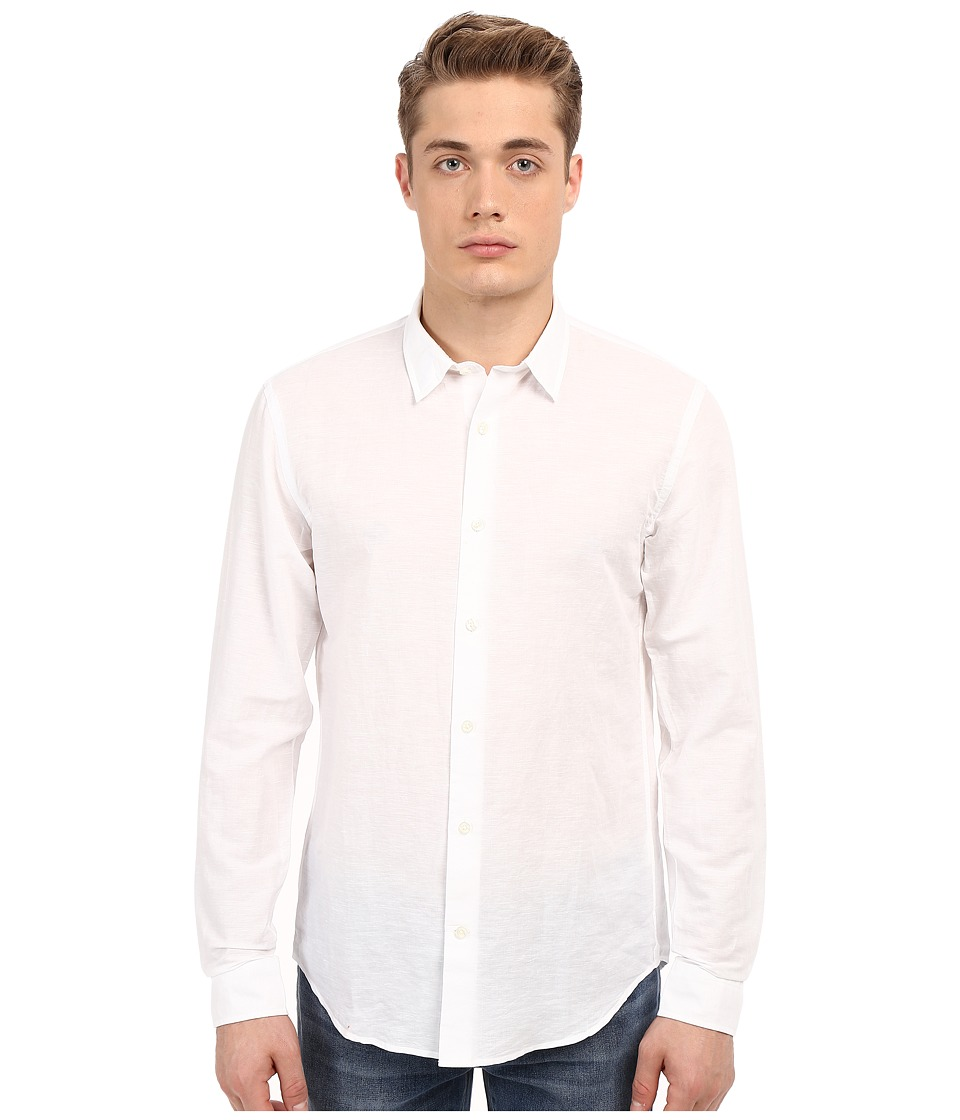 Vince - Melrose Linen Shirt (White) Men's Long Sleeve Button Up