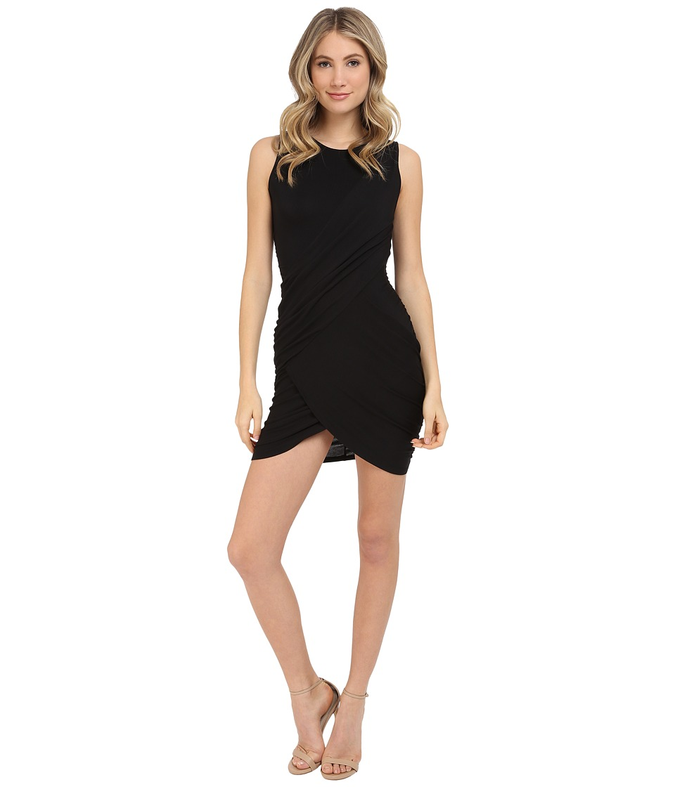Michael Stars Crew Neck Bodycon Dress (Black) Women