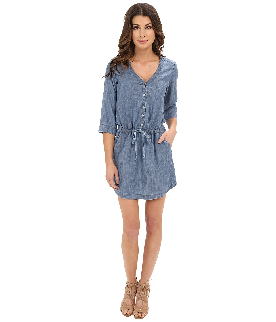 Michael Stars - Linen Denim Tencel Shirtdress (Medium Wash) Women's Dress