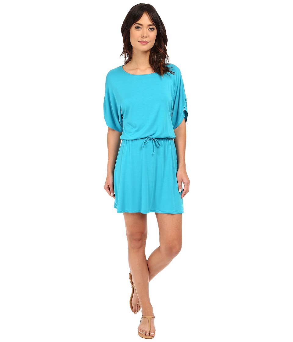 Michael Stars Drawstring Dress w/ Ruched Sleeves (Catalina) Women