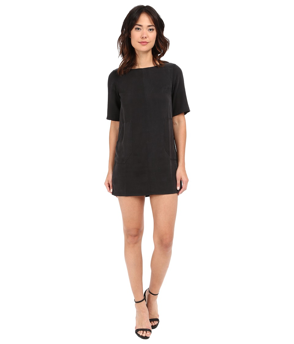 Michael Stars - Tencel Elbow Sleeve Shift Dress (Black) Women's Dress