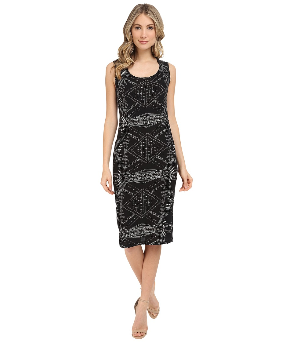 Michael Stars Alameda Print Tank Midi Dress (Black) Women
