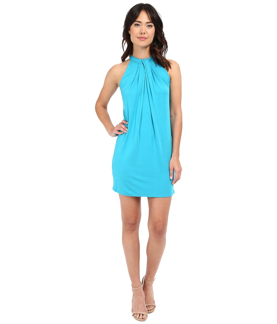 Michael Stars Sleeveless Draped Halter Dress (Catalina) Women
