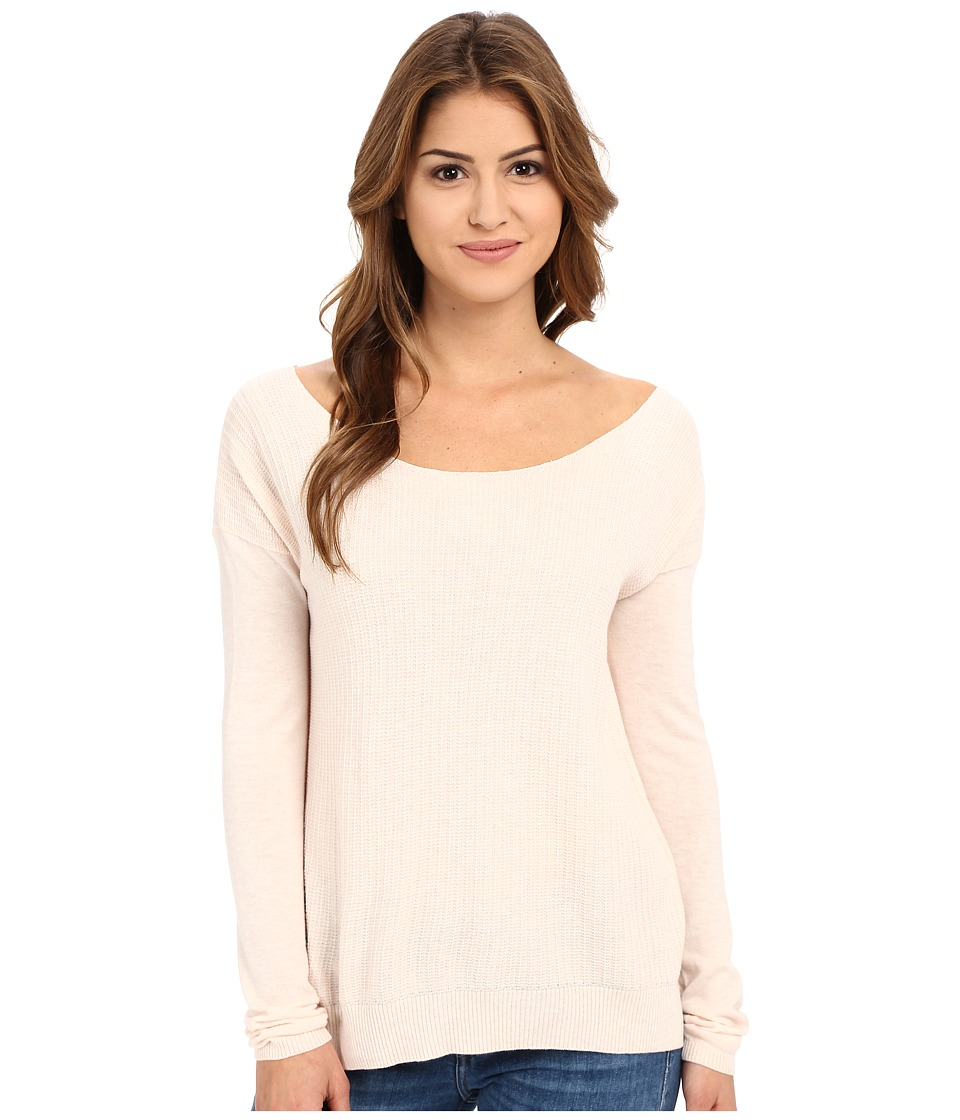 Joie - Jelisa Top (Heather Pale Pink) Women's Long Sleeve Pullover