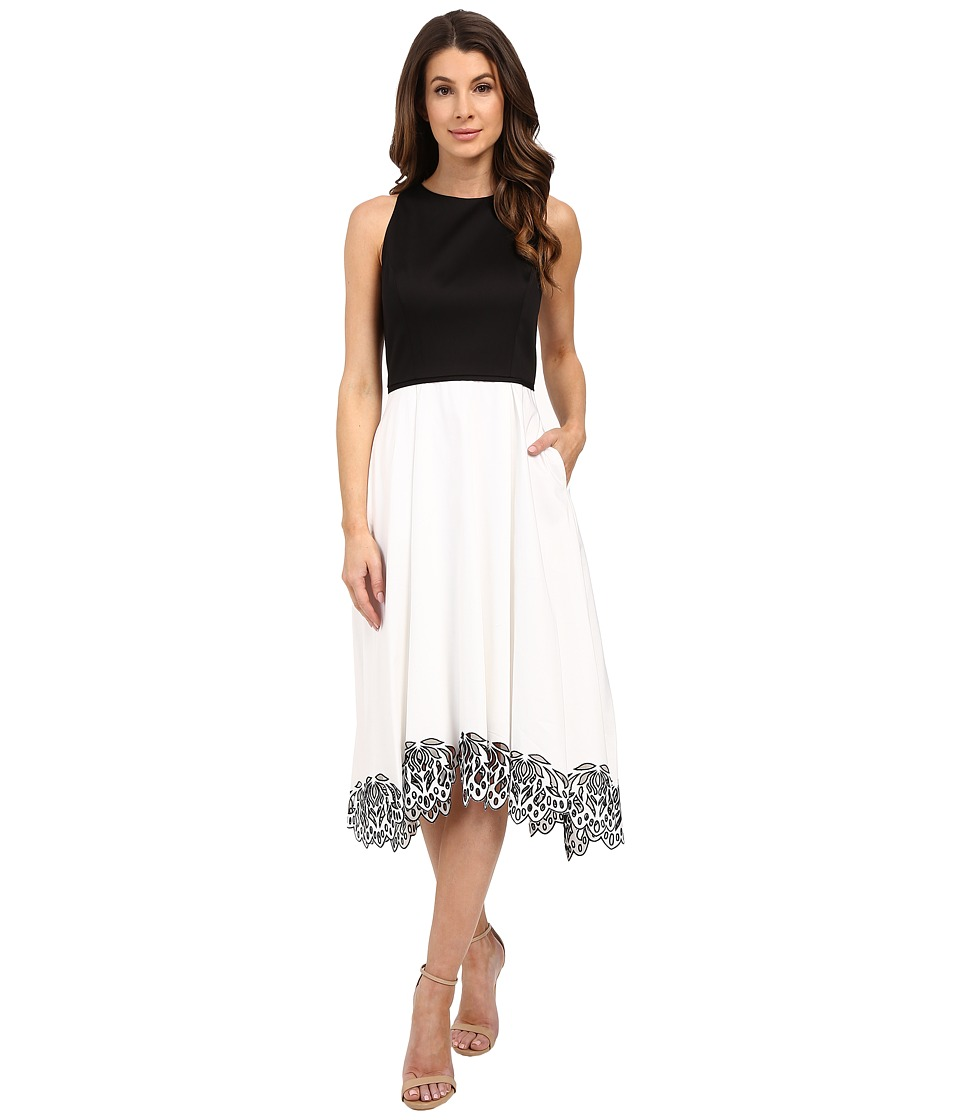 Tahari by ASL - Hailey - P Dress (Ivory/Black) Women's Dress