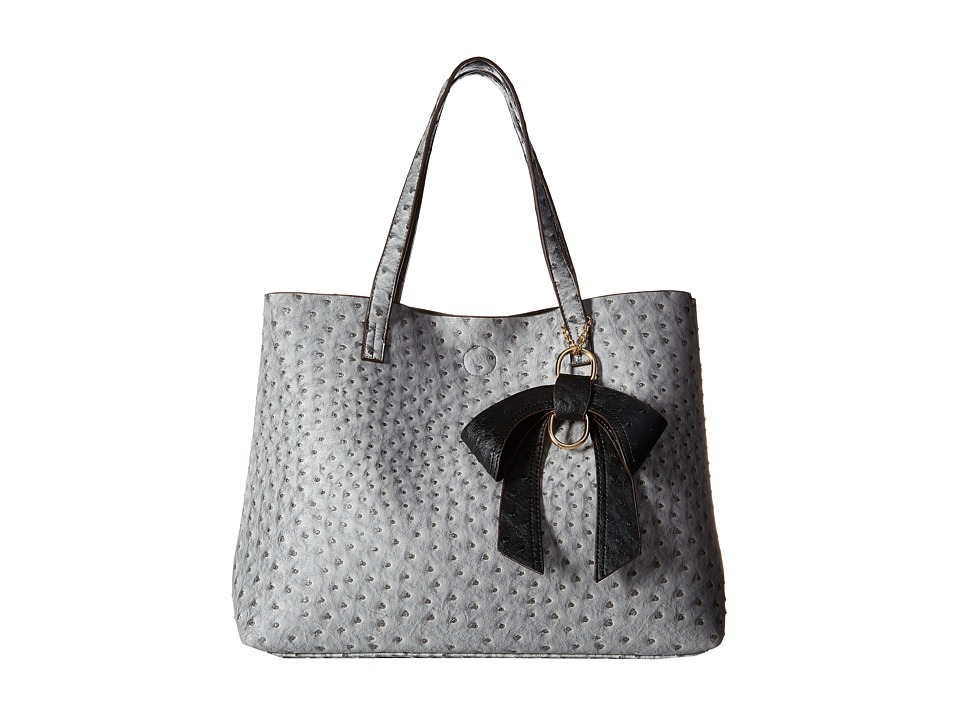 Gabriella Rocha - Celeste Ostrich Purse with Bow (Grey) Handbags