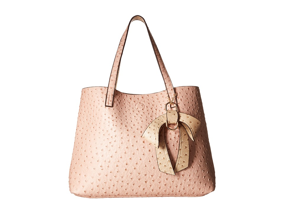 Gabriella Rocha - Celeste Ostrich Purse with Bow (Pink) Handbags