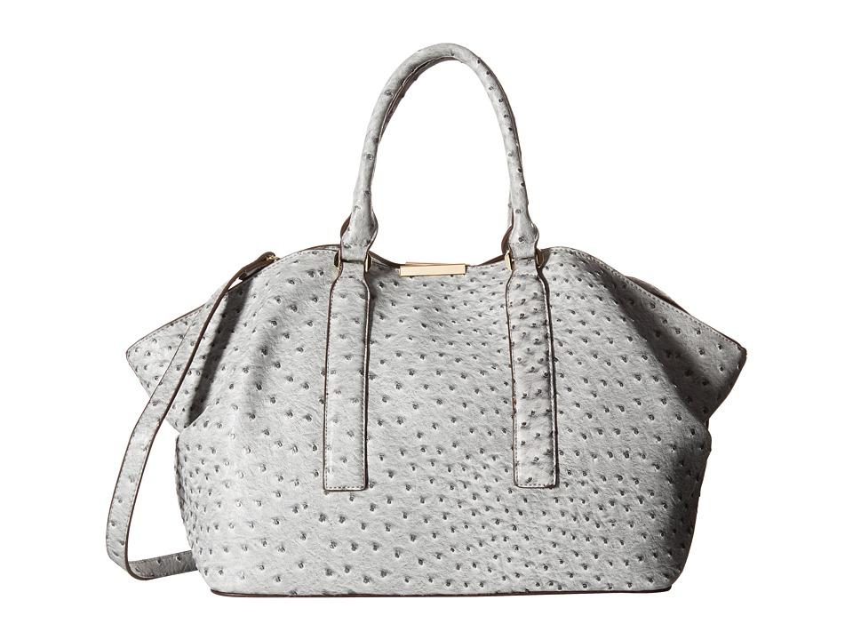 Gabriella Rocha - Briar Ostrich Slouch Purse (Grey) Tote Handbags