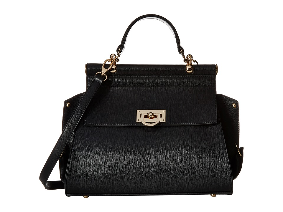 Gabriella Rocha - Hadley Purse with Gold Detail (Black) Satchel Handbags