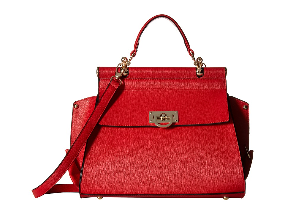 Gabriella Rocha - Hadley Purse with Gold Detail (Red) Satchel Handbags