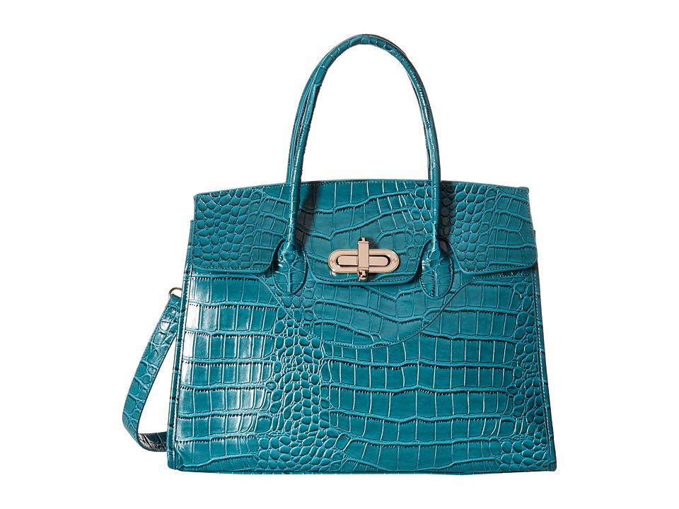 Gabriella Rocha - Amidala Crocodile Purse (Dark Blue) Satchel Handbags