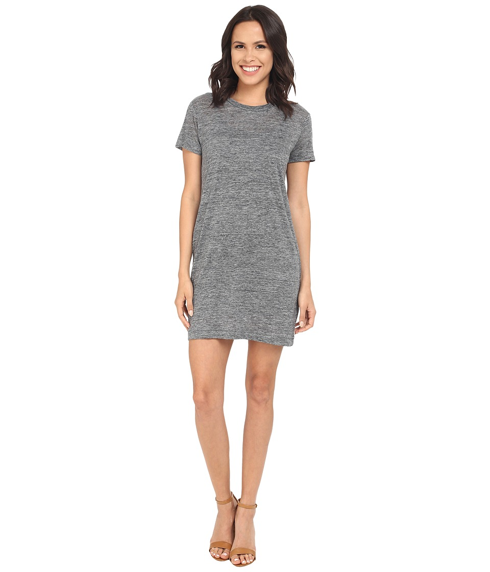 Michael Stars Linen Knit Short Sleeve Tee Dress w/ Slip (Medium Heather) Women