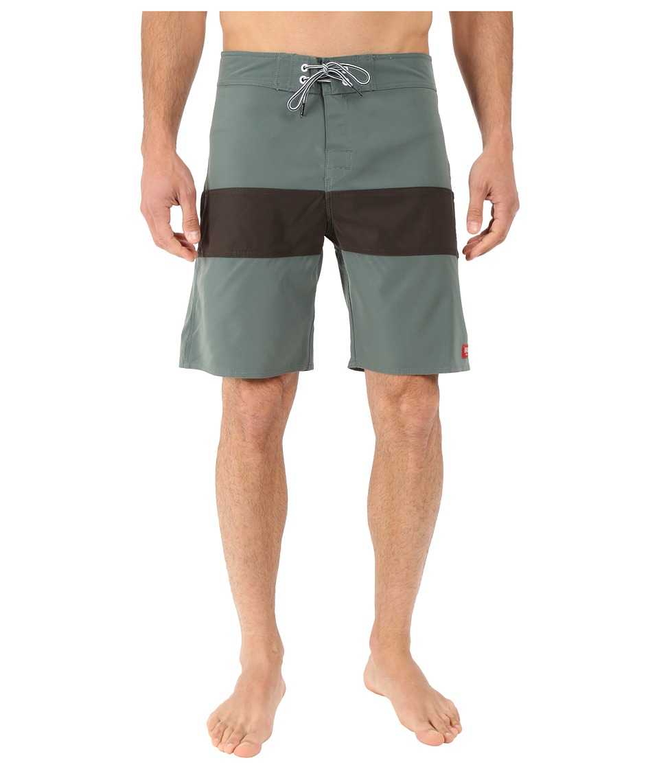 Brixton - Barge Trunks (Green) Men's Swimwear
