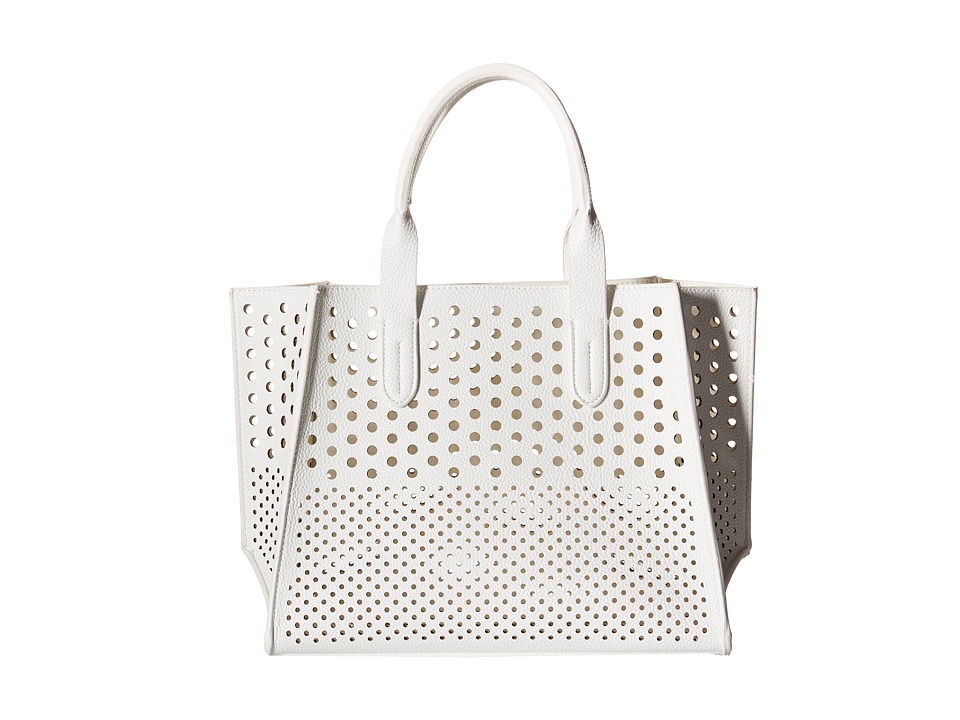 Gabriella Rocha - Augustina Perforated Tote (White) Tote Handbags