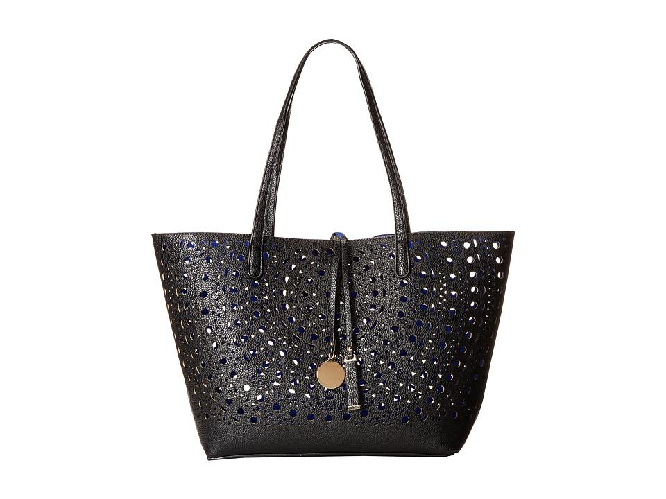 Gabriella Rocha - Merida Laser Cut Tote (Black/Cobalt) Tote Handbags