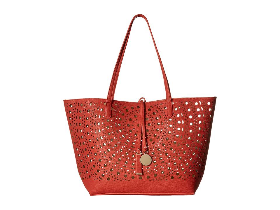Gabriella Rocha - Merida Laser Cut Tote (Coral/Cream) Tote Handbags