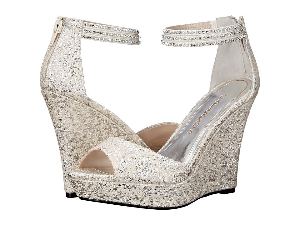 Caparros - Chablis (Silver Brocade) Women's Wedge Shoes
