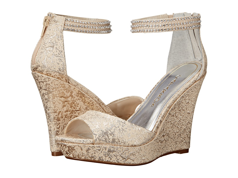 Caparros - Chablis (Gold Brocade) Women's Wedge Shoes