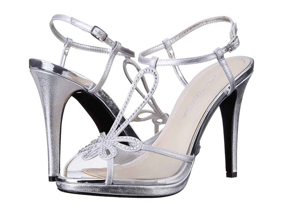 Caparros Claudia (Silver Metallic Fabric) High Heels