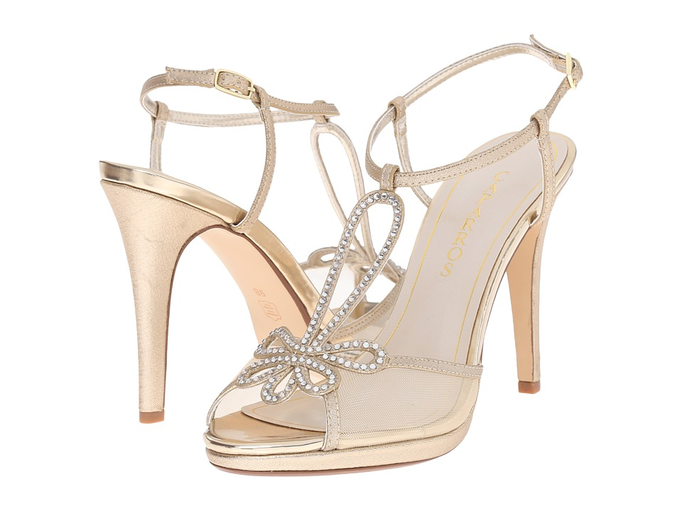 Caparros - Claudia (Gold Metallic Fabric) High Heels