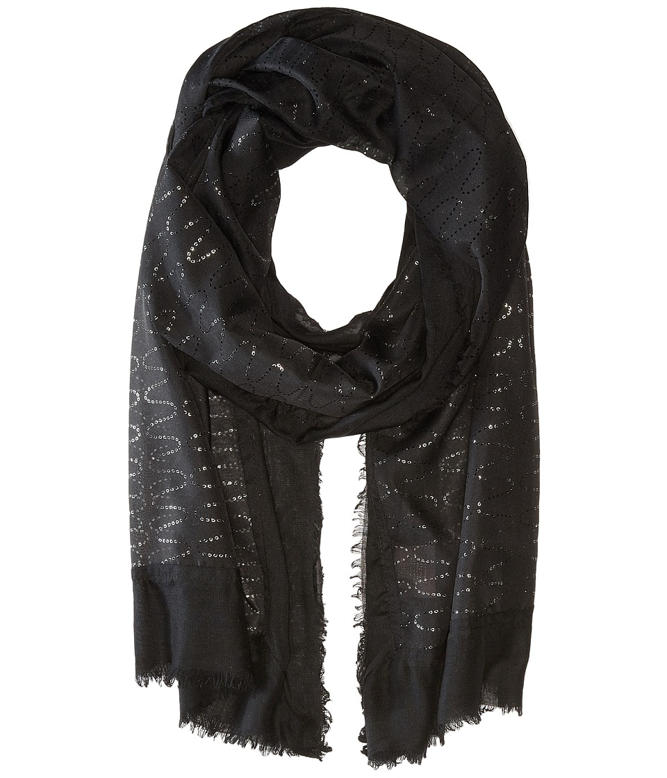 Vince Camuto - Waves Wrap (Jet Black) Scarves