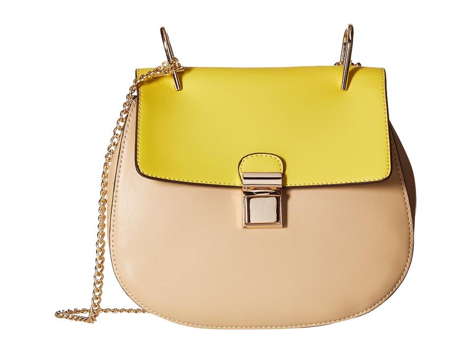 Gabriella Rocha - Idette Crossbody Purse (Neon Yellow/Cream) Cross Body Handbags