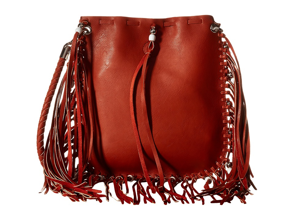 Gabriella Rocha - Jenessa Fringe Crossbody Purse (Orange) Cross Body Handbags