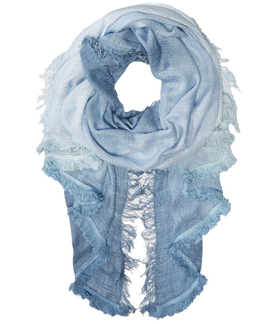 Vince Camuto - Magic Carpet Fringe Wrap (Riviera Blue) Scarves
