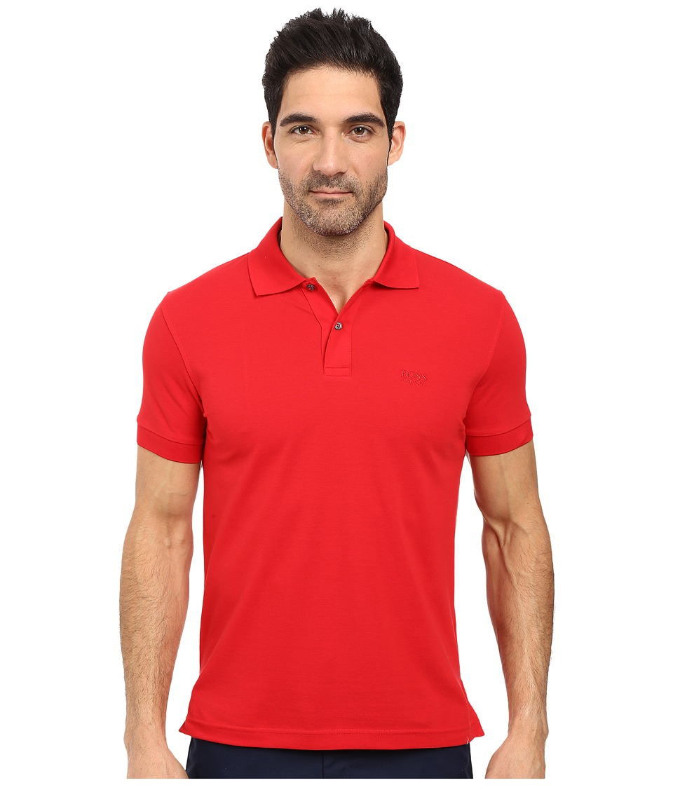 BOSS Green - C-Firenze/Logo 10108 (Medium Red) Men's Short Sleeve Knit
