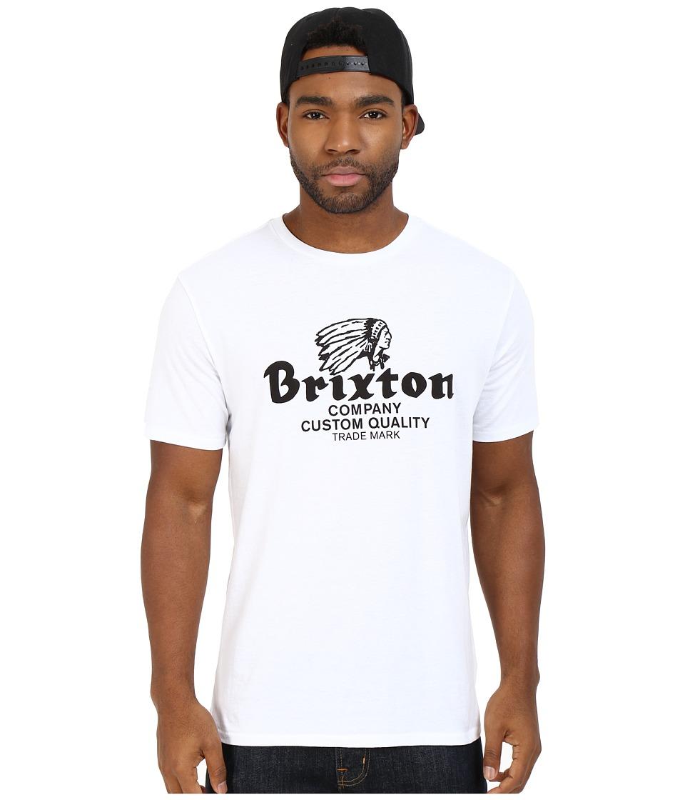 Brixton - Tanka Short Sleeve Premium Tee (White/Black) Men's Short Sleeve Pullover