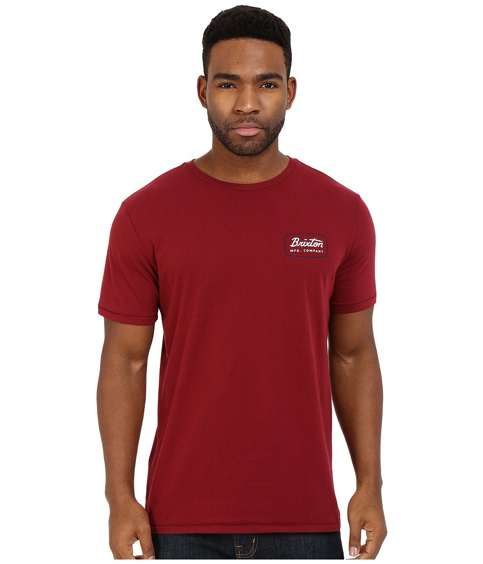Brixton - Jolt Short Sleeve Premium Tee (Burgundy) Men's T Shirt