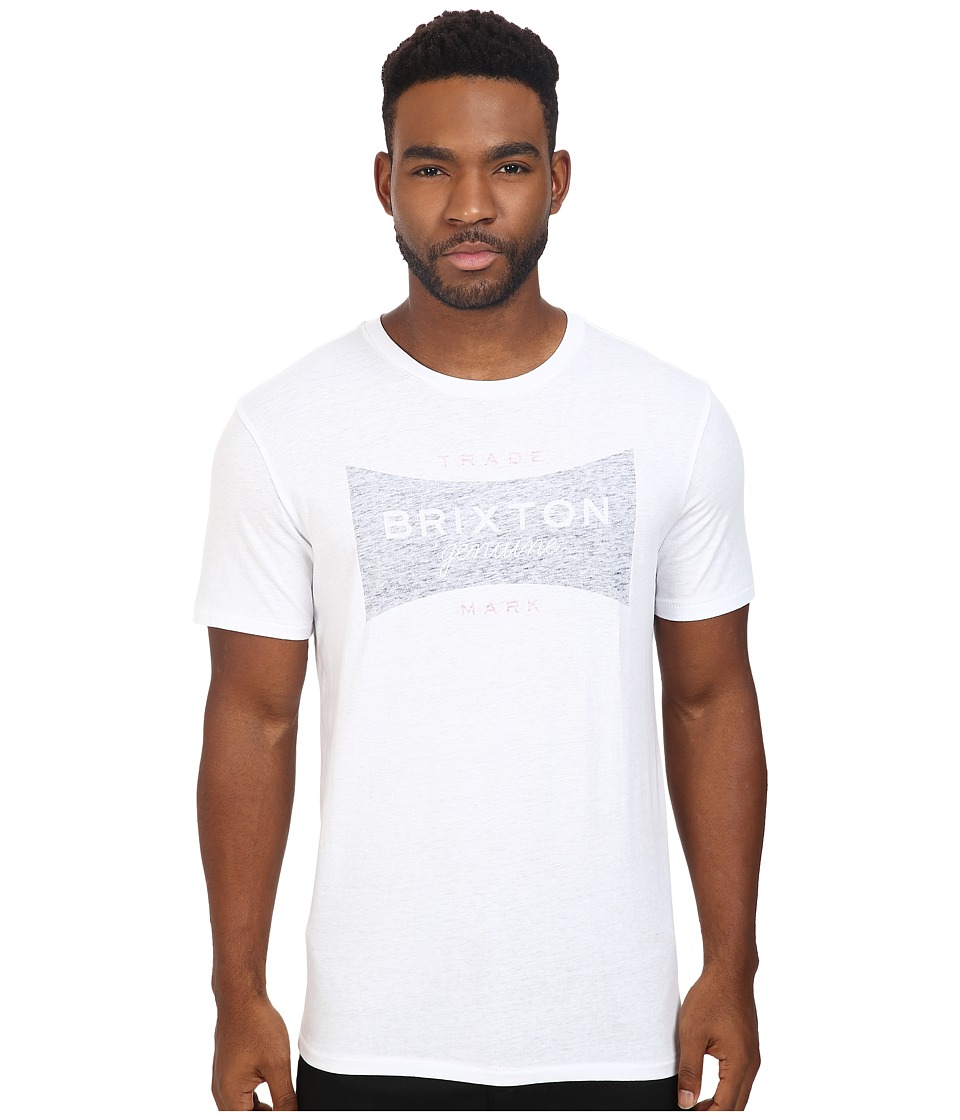 Brixton - Ramsey Short Sleeve Prem Tee (White/Navy) Men's T Shirt
