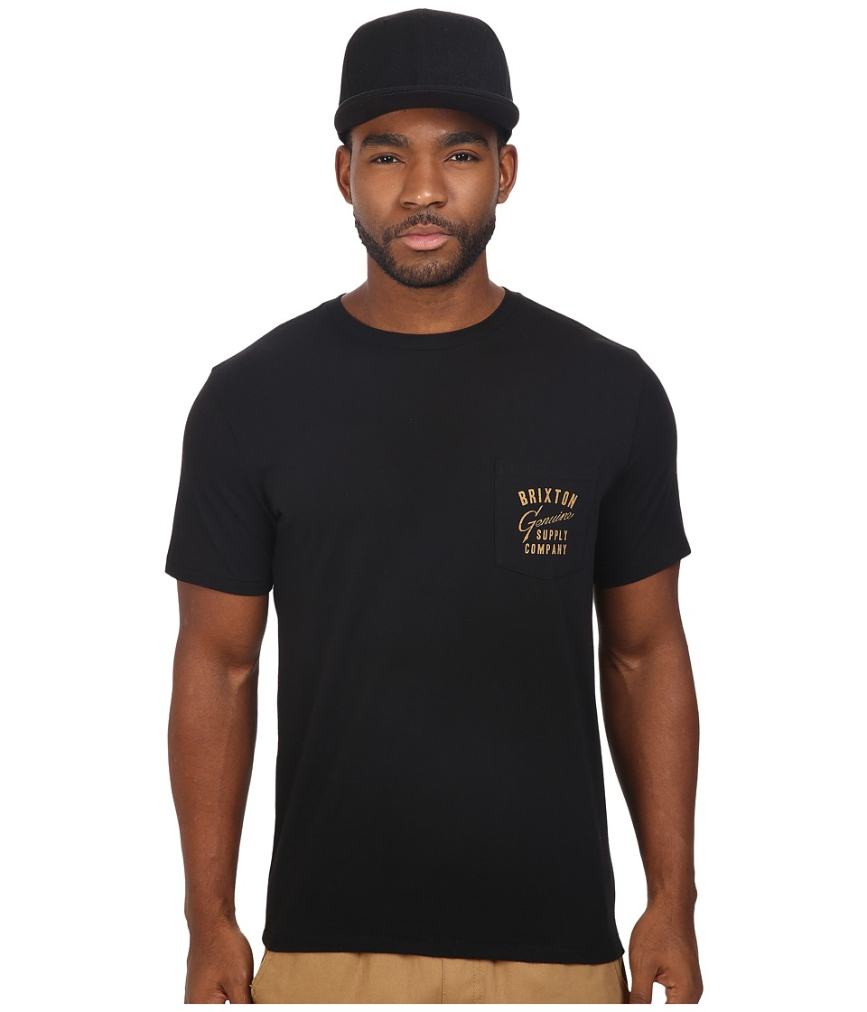 Brixton - Dunhill Short Sleeve Pocket Tee (Black) Men's T Shirt