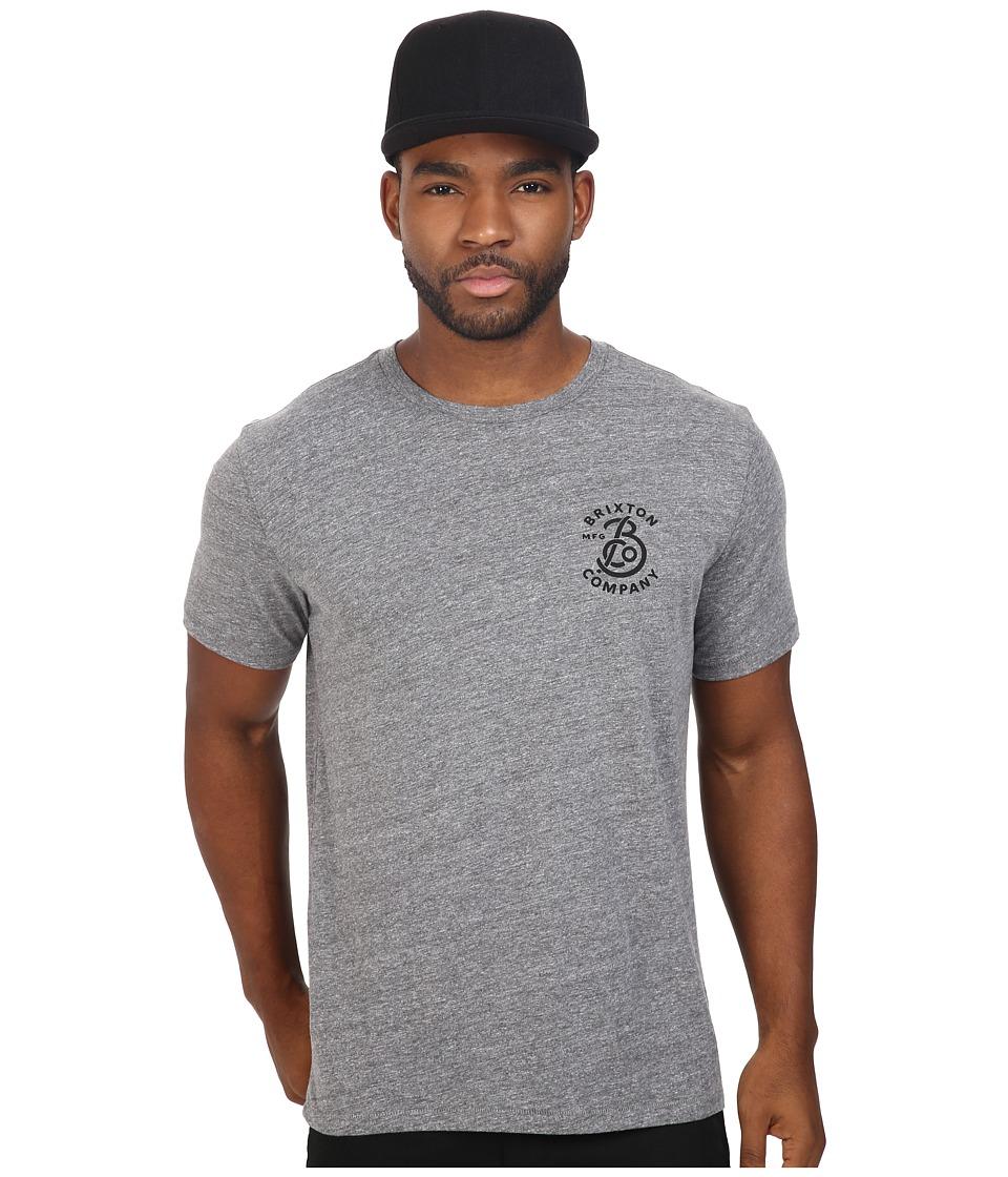 Brixton - Brandish Short Sleeve Premium Tee (Heather Grey) Men's T Shirt