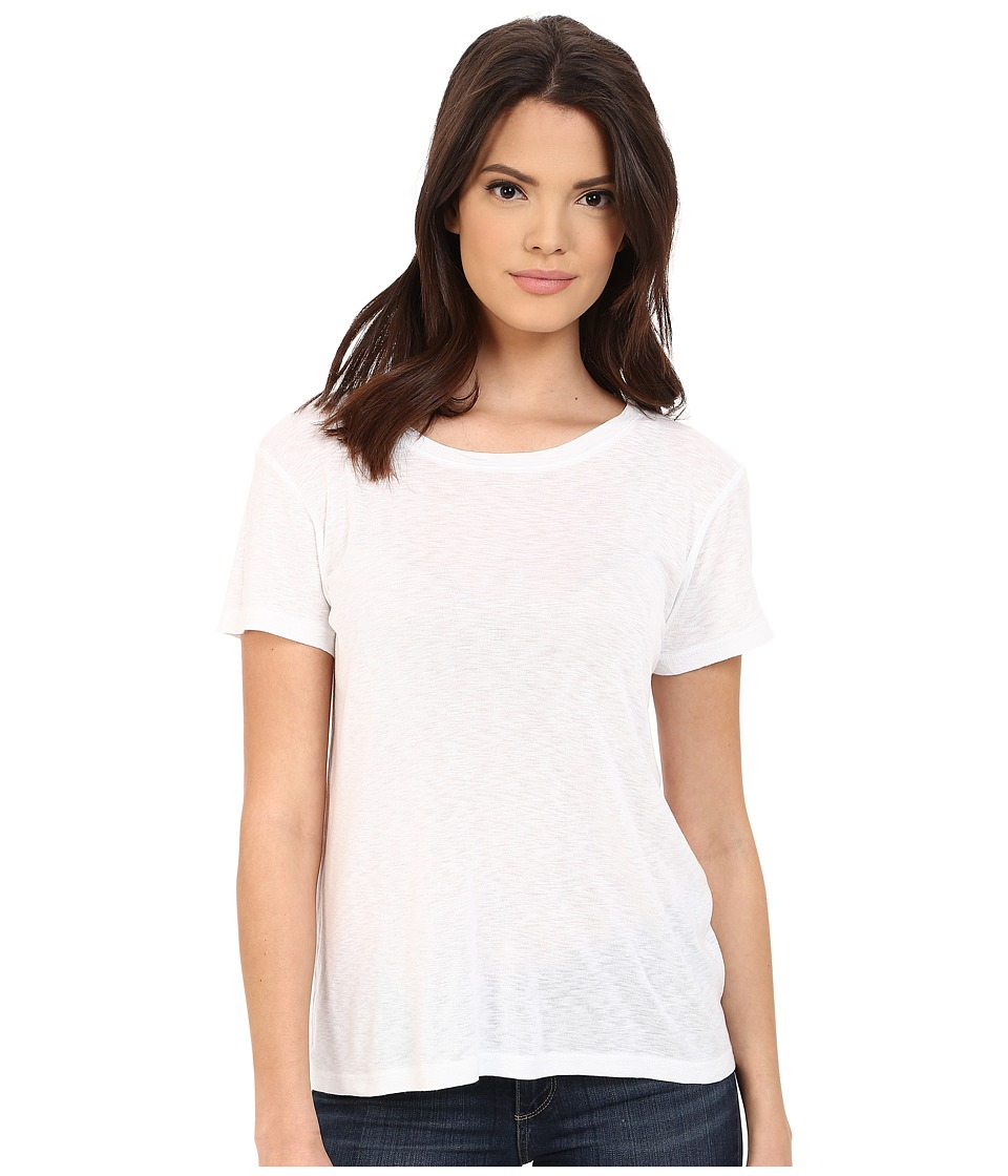 Michael Stars - Slub Short Sleeve Crew Neck (White) Women's Clothing