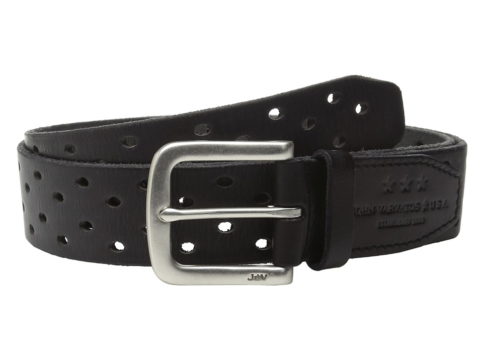 John Varvatos - 38mm Harness Perforated Veg Belt (Elephant) Men