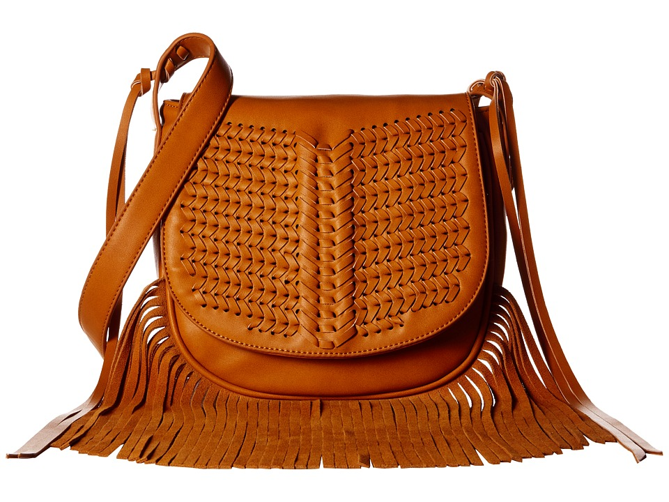 Gabriella Rocha - Karmela Woven Purse with Fringe (Tan) Handbags