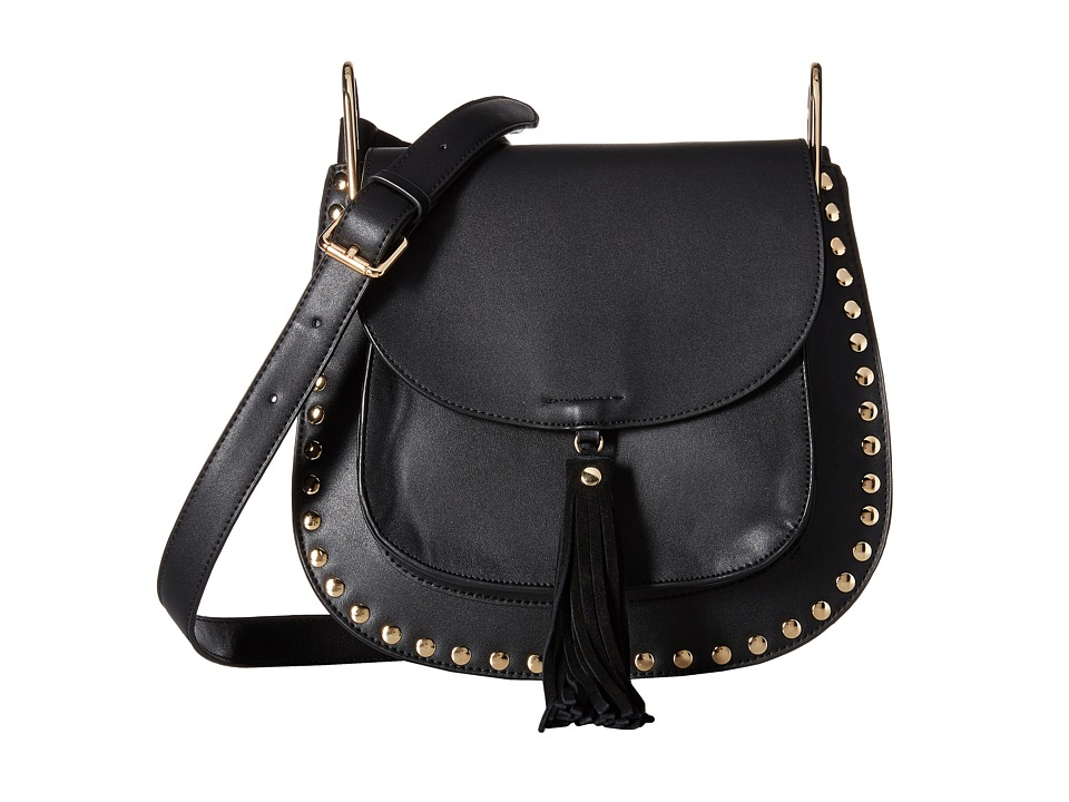 Gabriella Rocha - Rosalina Saddle Purse with Tassel (Black) Handbags