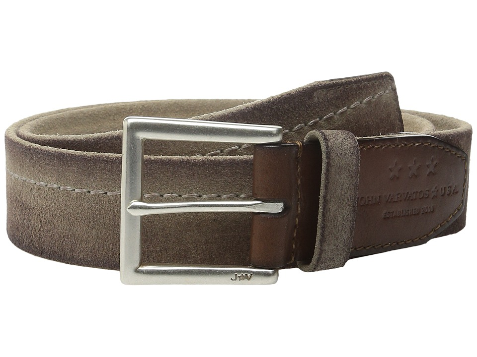 John Varvatos - 40mm Harness Brooklyn Stitched Belt (Natural) Men's Belts