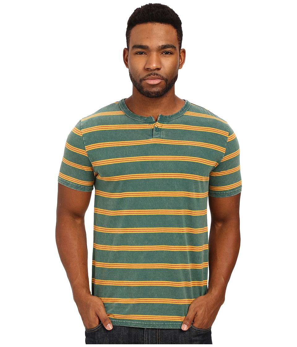 Brixton - Cohen Short Sleeve Henley (Green) Men's Short Sleeve Knit