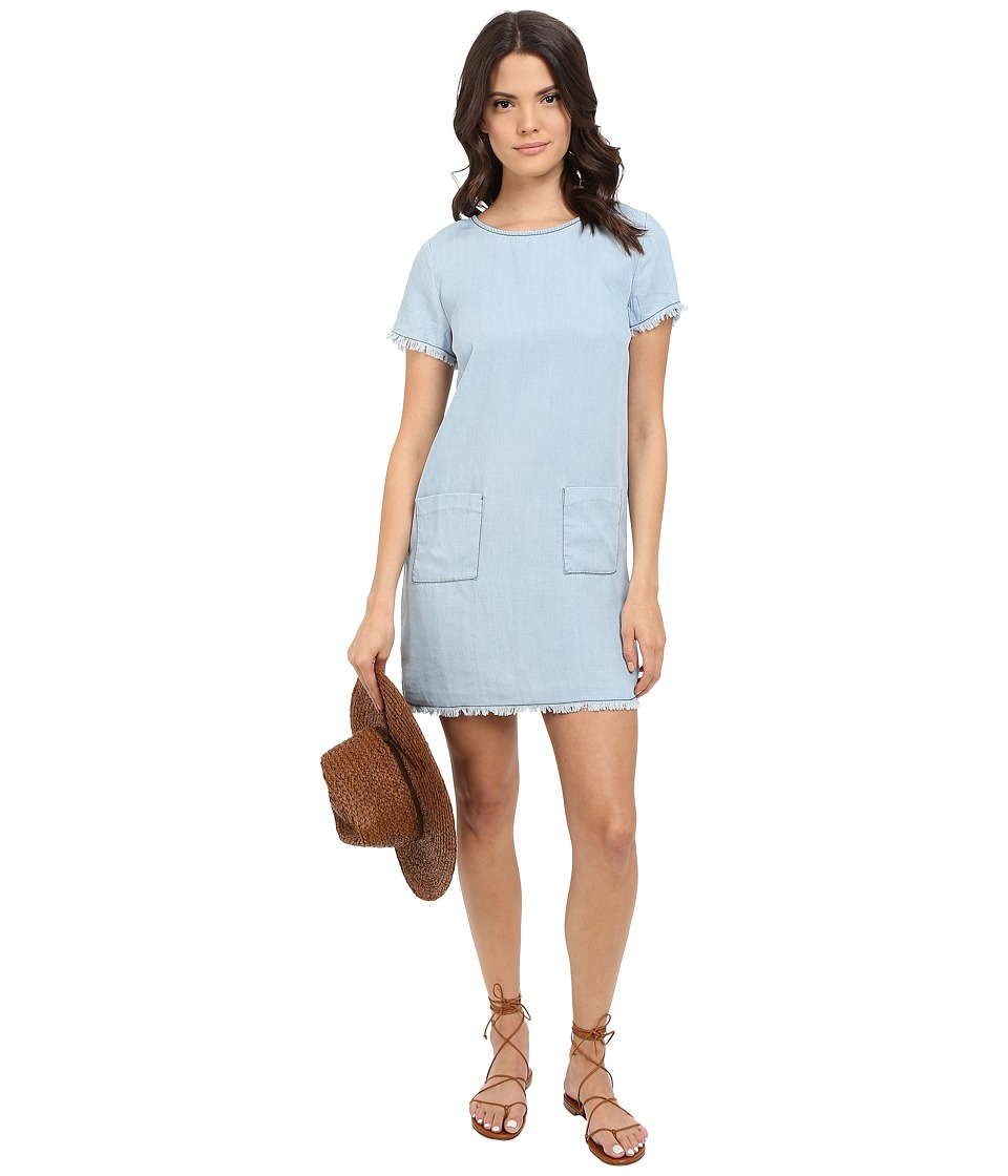 BB Dakota - Rafe Denim Tencel Shirtdress (Light Blue) Women's Dress