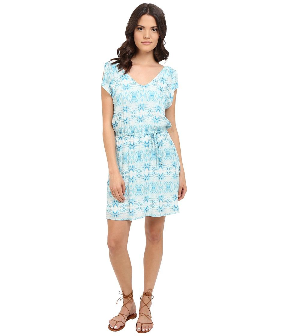 BB Dakota - Zoya Grotto Printed Rayon Twill Dress (Dirty White) Women's Dress