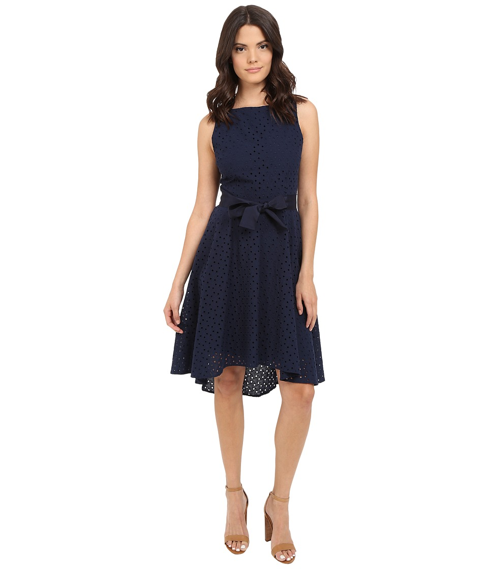 BB Dakota Lilyana Eyelet High-Low Dress (Navy) Women