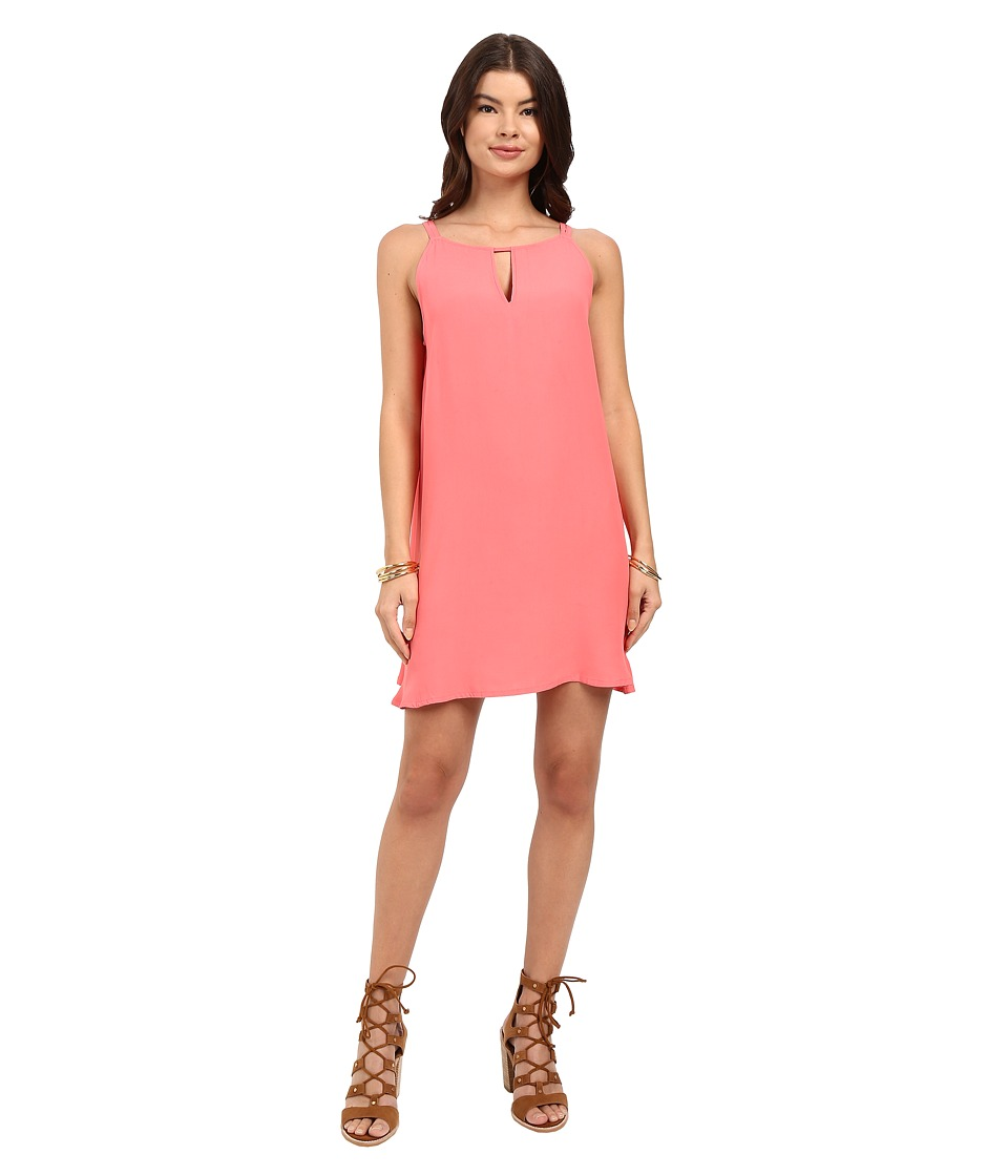 BB Dakota Rachel A-Line Crepe Dress (Coral) Women