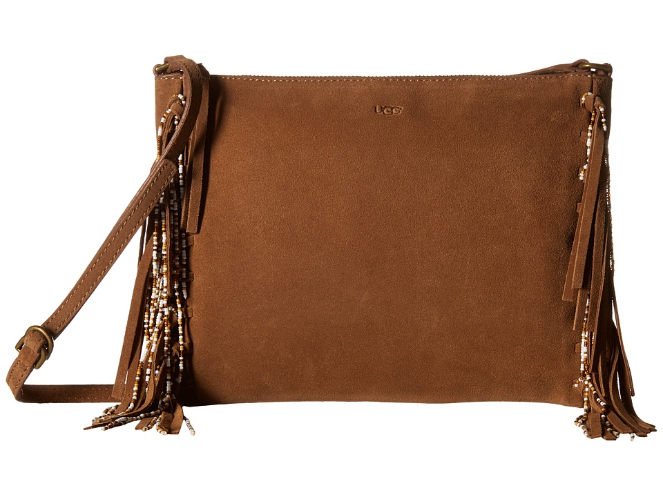 UGG - Lea Beaded Crossbody (Chestnut) Cross Body Handbags