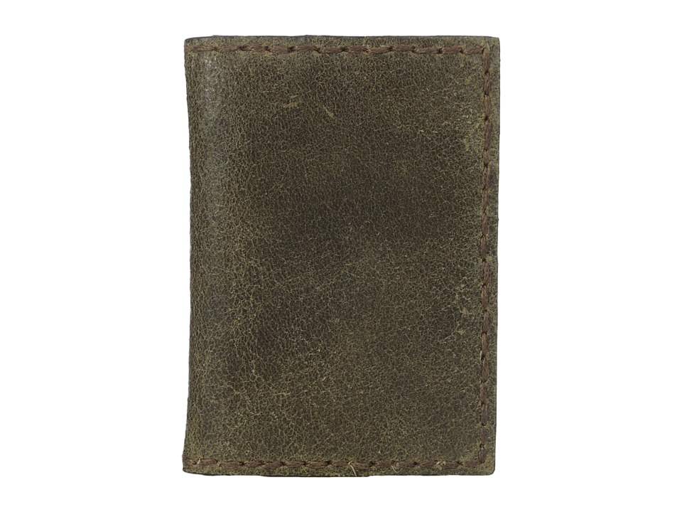 John Varvatos - Brooklyn Bifold Card Case (Olive) Bi-fold Wallet